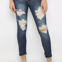 Heavy Ripped & Washed Jegging | Jeggings | rue21