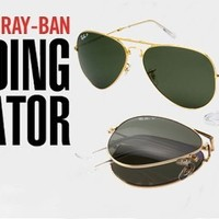 Rayban Aviator Folding RB3479 Sunglasses Brown Ray Ban from Sunglasses For All