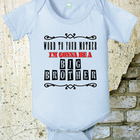 New Brother Shirt Birth Announcement Shirt 6 12 18 24 Month Sibling Shirt