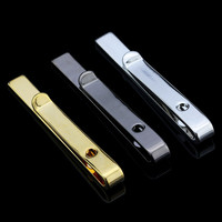 Fine Jewelry Men's Accessories Formal Classy Simple 6 Colors Tie Bar Clasp Clip Pin Men Rhinestone Business Small Ties Clips