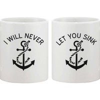 I Will Never Let You Sink Best Friend Coffee Mugs