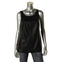 Dakota Collective Womens Leather Knit Pullover Top