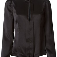 Blumarine stand up collar fitted blouse