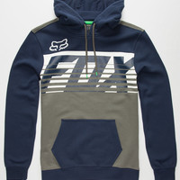 Fox Transfer Mens Hoodie Navy  In Sizes