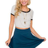 Heartbreaker Skater Skirt - Blue
