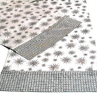 Silver star table runner – 14x84 custom runner – Christmas party wedding dining table – Glitter snowflake sequin table top – Sparkly decor