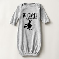 Cute Halloween Flying Witch Black Typography T-shirt