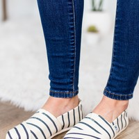 TOMS-White Navy Riviera Stripe