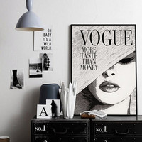 Vintage Fashion Illustration Vogue Poster Fashion Wall Art Vogue Print Feminin Fashion Art Vintage Vogue Cover Vogue Magazine PRINTABLE