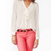 Lace Panel Button Up