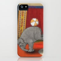 Circus Elephant iPhone & iPod Case by Barruf