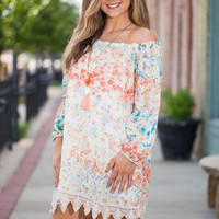 Western Winds Dress, Yellow-Coral