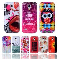"""Fashion Lovely Cartoon TPU Silicone Soft Case For Samsung Galaxy S4 Mini i9190 i9195 4.3"""" Back Skin Cover Phone Protective Cases"""