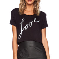 DAYDREAMER Love Crop Tee in Black