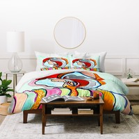 CayenaBlanca The Tree Of Courage Duvet Cover
