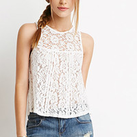 Crochet-Paneled Lace Top