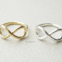 Infinity Knuckle ring, Infinity ring, Midi ring