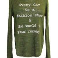 Long Sleeve Graphic Knit Top