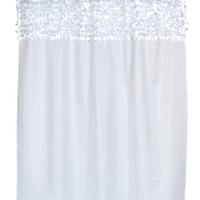 """BenandJonah Collection Fabric Shower Curtain 70 x 72"""" Goosy Top White"""