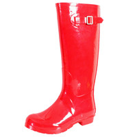 Red Puddles Rain Boot 7