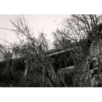 Drive By, Up There : Black and White : An Abandoned to Grace Wall Art Print