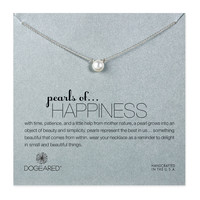 Dogeared Pearls of Happiness White Pearl Necklace, Sterling Silver 16 inch