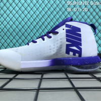 KUYOU N035 Nike Air Max Dominate EP High Men Basketball Shoes White Purple