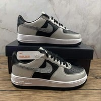 Morechoice Tuhy Nike Air Force 1 3M Snake 2021 Low Sneakers Casual Skaet Shoes DJ6033-001