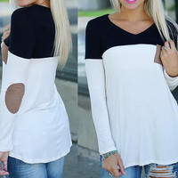 FASHION SPELL COLOR LOOSE T-SHIRT