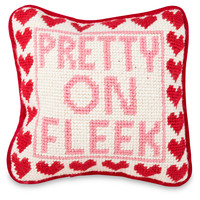 Pretty on Fleek Needlepoint Pillow