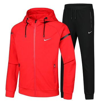Trendsetter Nike Men Cardigan Jacket Coat Pants Trousers Set Two-Piece
