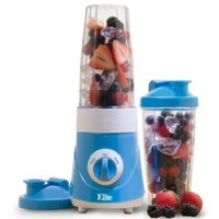 Elite Cuisine EPB-2572BL Maxi-Matic Personal Drink Mixer with Two 28-Ounce Travel Mugs, Blue
