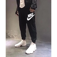 "Hot Sale ""NIKE"" Trending Women Men Stylish Letter Print Sport Pants Trousers Sweatpants Black"