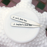 Personalized Collar Stays - Hand Stamped Collar Stays - Monogrammed Collar Stays - Gift for Men