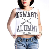 Hogwarts Alumni Shirt Crop Tops, Harry Potter T-Shirt Women