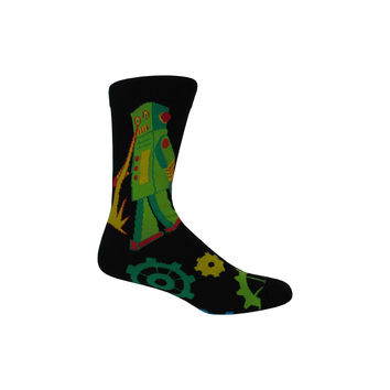 Robot Rampage Crew Socks in Black