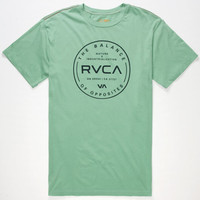 Rvca Directive Mens T-Shirt Green  In Sizes