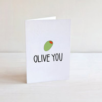 Olive You, Valentine's Day, Valentines Day Card, Printable Cards, Printable Valentine, Card For Husband, Card For Boyfriend, Greeting Cards