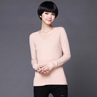 V-Neck Pure Color Knitted Sweater = 1839044228