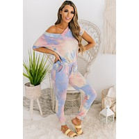 Cozy Is Key Tie Dye Two Piece Set (Mauve)