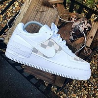 LV NIKE Air force one Fashion casual shoes