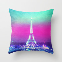 La Tour Eiffel Throw Pillow by M Studio
