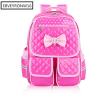 Girl School Bag Korean Style Backpack Lolita Style Bow High Quality Schoolbags For Children RJX-81