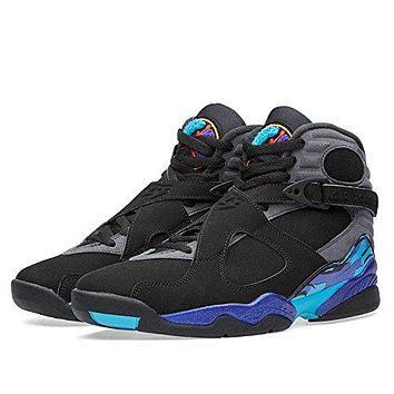 Nike - Air Jordan 8 Retro - 305381025 - Color: Black-Blue-Grey