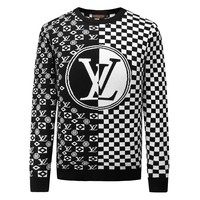 LV Louis Vuitton 2018 autumn and winter new men's pullover round neck sweater