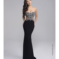 Preorder - Nina Canacci 2106 Black Sexy Strapless Cut Out Long Dress 2016 Prom Dresses