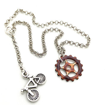 Bike Gear Anklet, Bicycle Gear, Bicycle Jewelry, Industrial Jewelry, Bike Lover Gift, Fixie Accessories, Bike Ankle Bracelet, Bicycle Theme