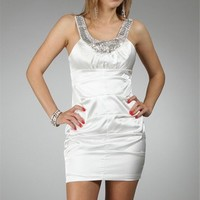 White/Silver Cocktail Dresses