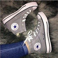 shosouvenir :Converse All Star Sneakers for Unisex Hight tops sports Leisure Comfort Shoes Grey