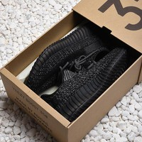 Adidas Yeezy Boost 350 v2 Black Static Reflective Fashion Sport Running Shoes - Best Online Sale